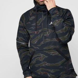 Nike Jordan Flight Camo Anorak Half Zip Pullover